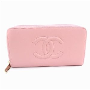 🇺🇸 SALE | CHANEL Long Pink Zip Wallet